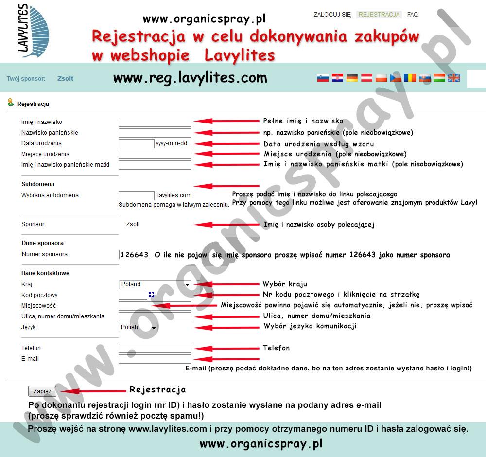 rejestracja Lavylites Poland